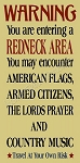 Warning you are entering a redneck area Stencil- Reusable Stencils for wood signs - DIY stencils -6353