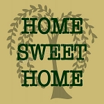 Willow Home Sweet Home Overlay  Stencil - Reusable Stencil - Primitive stencils -8631