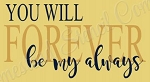 You will forever be my always Stencil- Reusable Sign Stencil - Valentines stencils -8806
