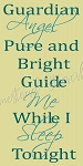 PRIMITIVE STENCIL ITEM #7445 - Guardian Angel Pure and Bright