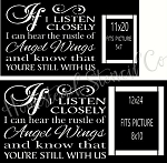 ITEM 7516-If I Listen Closely- Primitive Stencil- Reusable Sign Stencil- Reusable Stencils