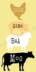 PRIMITIVE STENCIL ITEM #8409- Cluck Oink Baa Moo