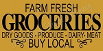 ITEM 8442- Farm Fresh Groceries Dry Goods Produce Dairy - Make Your Own Sign- Reusable Stencil
