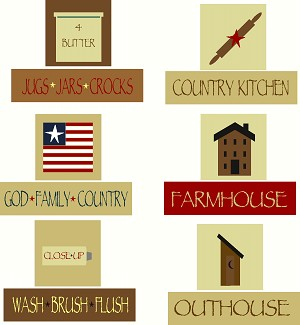 PRIMITIVE STENCIL ITEM -WB-SET F- 12 PC Shelf Sitter Set on outhouse prints, outhouse posters, outhouse ornaments, outhouse signs, outhouse theme decor, outhouse kits, outhouse decorations, outhouse fabric, outhouse silhouette, outhouse foam, outhouse stamps,