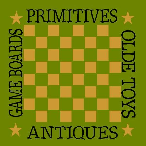 Primitives Olde Toys Game Boards Checker Board
