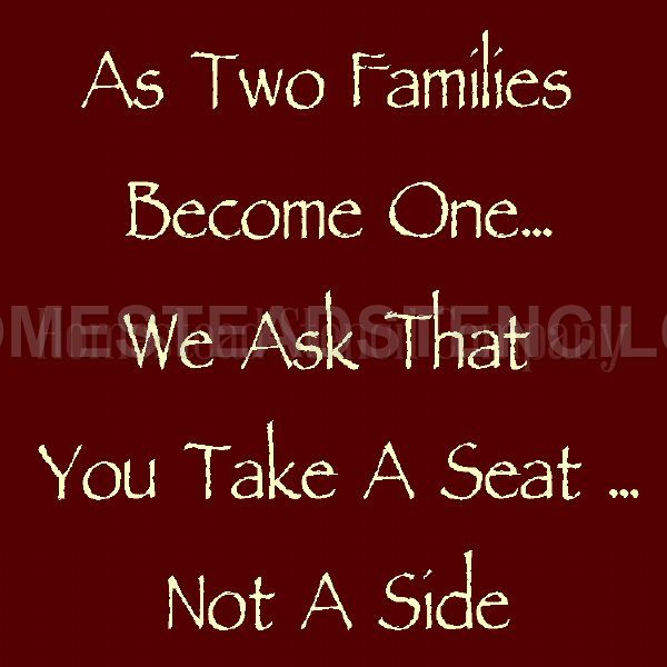 As Two Families Become one