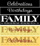 Family Birthday 3 pc  Stencil- Reusable Sign Birthday Stencils- 5941