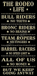 The Rodeo Life Stencil - Reusable Stencil for wood signs- DIY stencils -6336