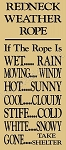 Redneck Weather Rope Stencil- Reusable Stencils for wood signs - DIY stencils -6383