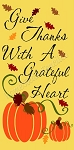 Give thanks with a grateful heart  Stencil- Reusable Sign Stencil - Stencils for wood signs -6483