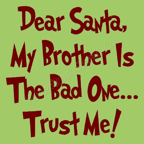 Dear Santa, My Brother is the Bad One