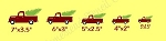 Vintage Truck Set Christmas Stencil-  Reusable Sign Stencils- 6564