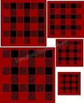 Plaid  5 pc  Square Stencil Set -  Reusable Sign Stencils- 8170