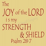 The Joy Of the Lord Psalm 28:7