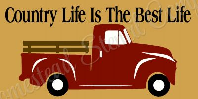 Country Life Vintage Red Truck