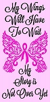 My Wings Will Have to Wait Cancer  Stencil - Reusable Sign Stencil - Stencils for making signs- stencils -8880