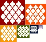 Quatrefoil shape  6 Pc Set