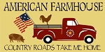 American Farmhouse Vintage Red Truck Flag Stencil - Reusable Mylar Sign Stencil - DIY stencils for wood signs -8959