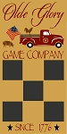 Olde Glory Vintage Red Truck Tic Tac Toe Game Board Stencil - Reusable Mylar Sign Stencils -8960