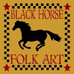 Black Horse Folk Art