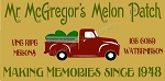 Mr. McGregor's Melon Patch Vintage Red truck