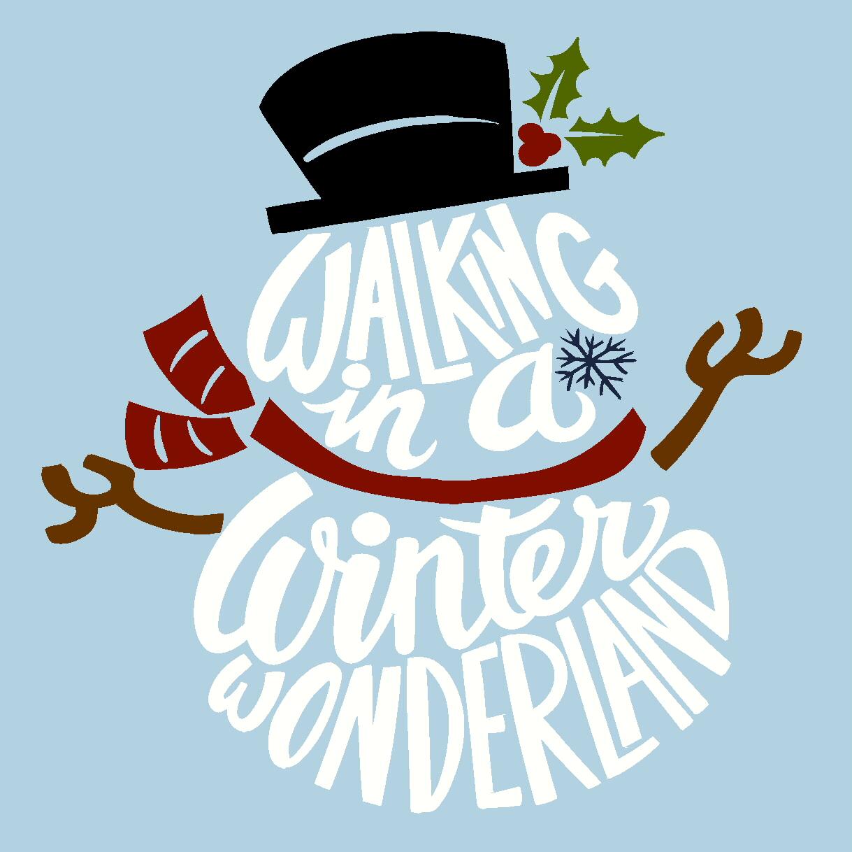Durable Christmas Stencil Design Walking in a Winter Wonderland Stencil
