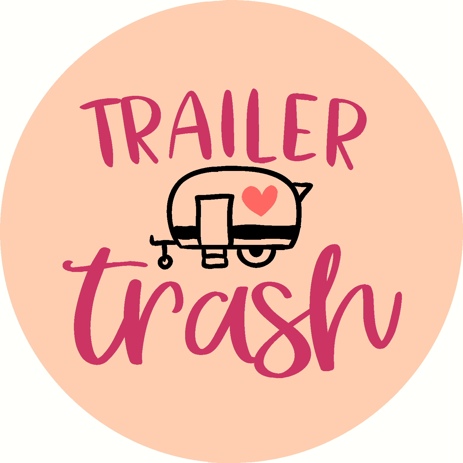 Trailer Trash RV  Door hanger