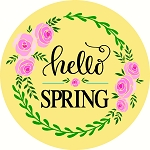 Hello Spring Door hanger