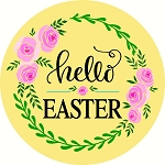 Hello Easter Door hanger