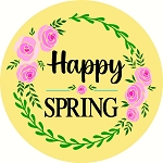 Happy Spring Door hanger Spring
