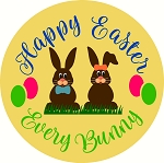 Happy Easter WITH BUNNIES Door hanger Spring