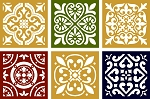 6 pc Mosaic Country Tile Shape   5