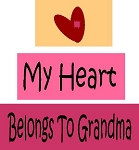 My Heart Belongs To Grandma 3pc Set