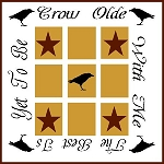 PRIMITIVE STENCIL ITEM #1505- Grow Olde With me TIC TAC TOE