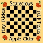 Scarecrows Trick R Treats Checker Board