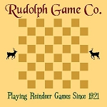 Rudolph Game Co. Checker Board