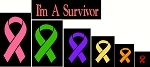 Cancer Ribbon  Stencil SET  Shapes -1