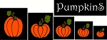 PRIMITIVE STENCIL ITEM # 2592 - Pumpkins Shapes- 2