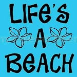 PRIMITIVE STENCIL ITEM #3398-  Life's a Beach