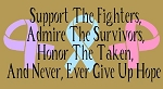 Support The Fighter Cancer Overlay Stencil - Reusable Sign Stencils- 3481