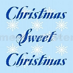 PRIMITIVE STENCIL - 2 pc OVERLAY ITEM  #4437- Christmas Sweet Christmas w/ Snow Flakes