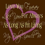 PRIMITIVE STENCIL - 2 pc OVERLAY ITEM  #4730- Love You Forever