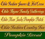 Old Fashion  Fall 5pc Set