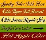 Fall harvest 5pc Set