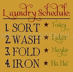 PRIMITIVE STENCIL ITEM #5675- Laundry Schedule