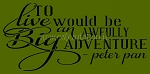 To Live Would Be An Awful Big Adventure