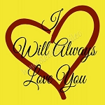 PRIMITIVE STENCIL - 2 pc OVERLAY ITEM  #6014- I Will Always Love You