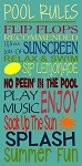 ITEM 6090- Pool Rules- Reusable Sign Stencil- Reusable Stencils