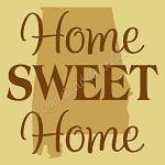PRIMITIVE STENCIL - 2 pc OVERLAY ITEM  #6453- Home Sweet Home