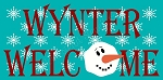 PRIMITIVE STENCIL OVERLAY ITEM #6558- Winter Welcome